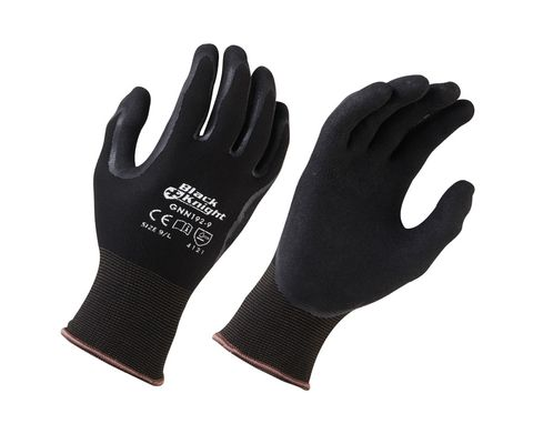 Black Knight Nitrile Coated Gloves, Size 9 - Large (was: PRGS370L)
