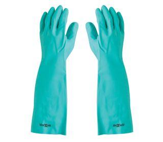 Maxisafe 45cm Green Nitrile Chemical Gloves - Medium