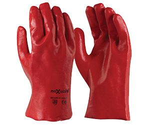 Maxisafe Red PVC gauntlet - 27cm