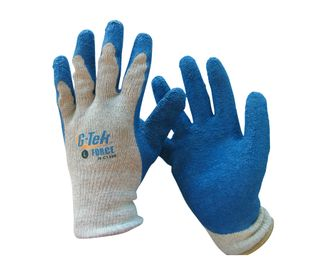 G-Tek Force Latex Palm Knit Gardening Gloves - Large