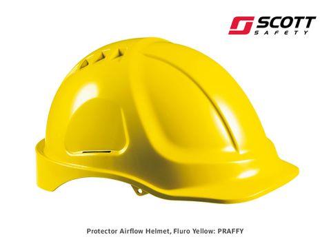 Protector HC600V Airflow Helmet - Fluoro Yellow