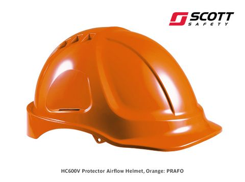 Protector HC600V Airflow Helmet - Orange