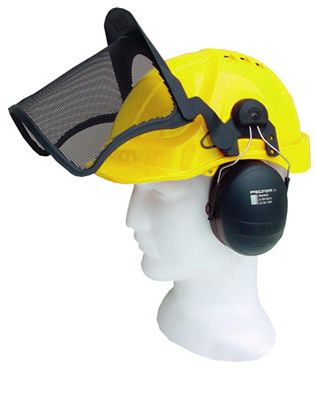 Airflow Helmet Complete with Peltor Mesh & Muffs