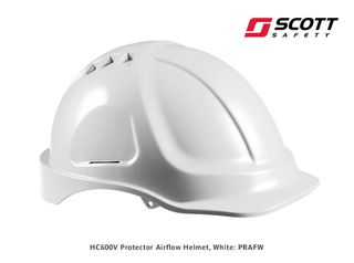 Protector HC600V Airflow Helmet - White