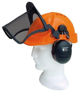Airflow Orange Helmet Complete With Peltor Mesh & Muffs