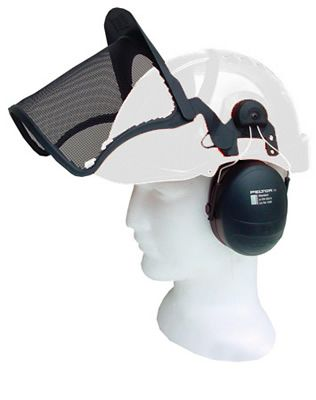 Airflow White Helmet Complete With Peltor Mesh & Muffs