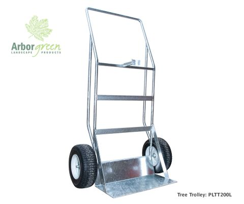 Arborgreen Tree Trolley- 200L potted trees, c/w trunk support, galvanised