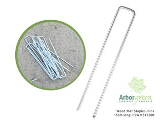 Weed Mat Staples, Pins, 15cm Long - 500/Box