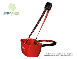 Pottiputki Kidney Shape Seedling Tray With Shoulder & Waist Strap