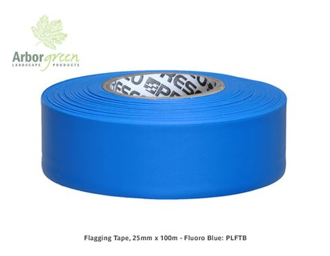 Flagging Tape, 25mm x 100m - Fluoro Blue
