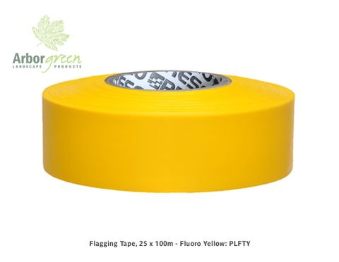 Flagging Tape, 25 x 100m - Fluoro Yellow