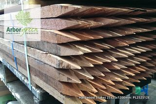 Pointed Hardwood Stakes 25x25x1200 Each