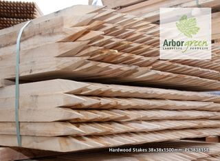 Pointed Hardwood Stakes 38x38x1500 Each