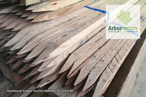Pointed Hardwood Stakes 25x25x1800 Each