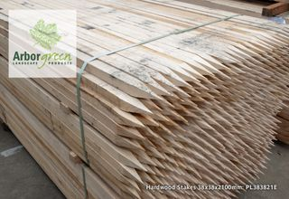 Pointed Hardwood Stakes 38x38x2100 Each