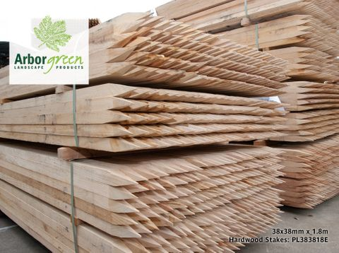 Pointed Hardwood Stakes 38x38x1800 Each