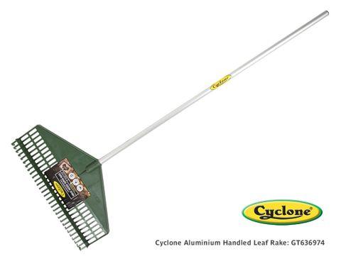 Cyclone Aluminium Handled Leaf Rake