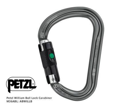 PETZL WILLIAM Ball-Lock Carabiner M36ABL