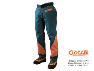 Clogger DefenderPro Zipped Chaps - Medium