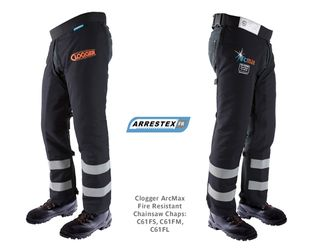 Clogger ArcMax Fire Resistant Chainsaw Chaps Medium