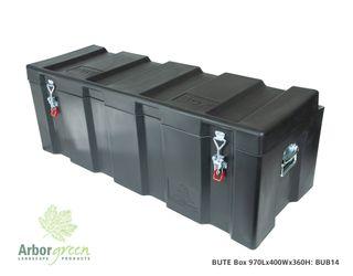 BUTE Box 970L x 400W x 360mmH Black 140L