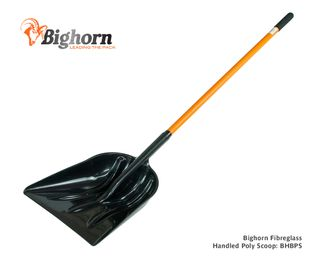 Bighorn Long Fibreglass Handled Poly Scoop
