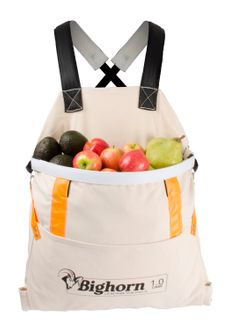 Bighorn Openmouth Fruit Picking Bag, Padded straps, 1 case/36L