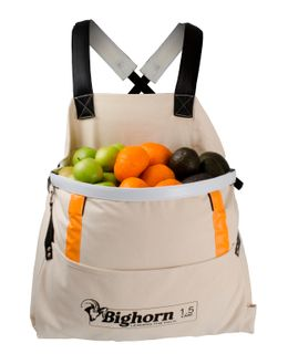 Bighorn Openmouth Fruit Picking Bag, Padded straps, 1.5 case/50L