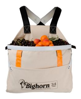 Bighorn Openmouth Fruit Picking Bag, Padded straps, 3/4 case/26L