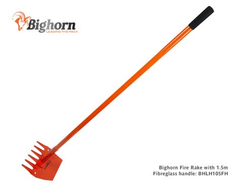 Bighorn Fire Rake with 1,500mm Long Fibreglass Handle (was BHLH105H)