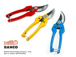 Bahco Small Hobby Secateur (each) - Red, Blue & Yellow