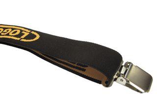 Clogger Black Clip-On Braces