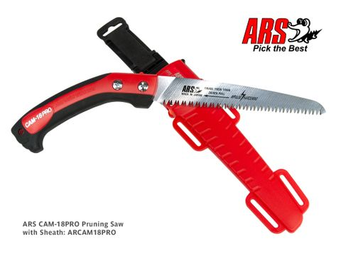 ARS CAM-18PRO Pruning Saw with Sheath 18cm