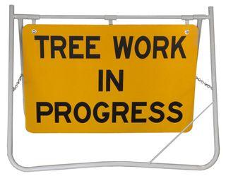 Swing Sign - Tree Work In Progress