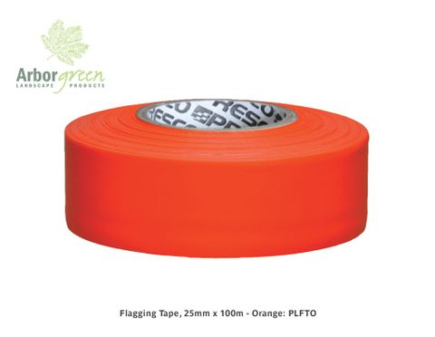 Flagging Tape, 25mm x 100m - Orange