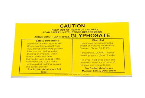 Chemical Warning Label S2049BG40 Vinyl