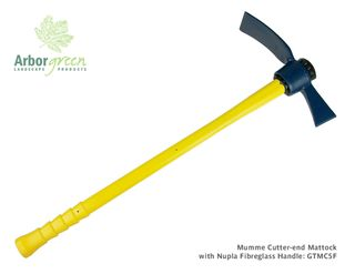 Mumme Cutter-End Mattock With Nupla Fibreglass Handle