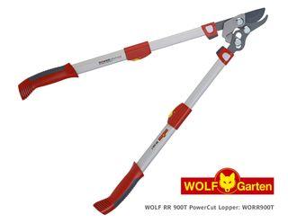 Wolf Bypass PowerCut Loppers, Telescopic 65-90cm