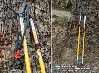 Big Shot Launcher & 2 x Jameson Hollow Fibreglass 4ft Poles Kit