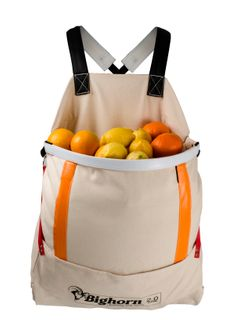 Bighorn Openmouth Fruit Picking Bag, Padded straps, 2.0 case/70L