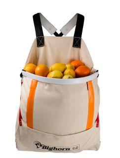 Bighorn Openmouth Fruit Picking Bag, Padded straps, 2.0 case/70L