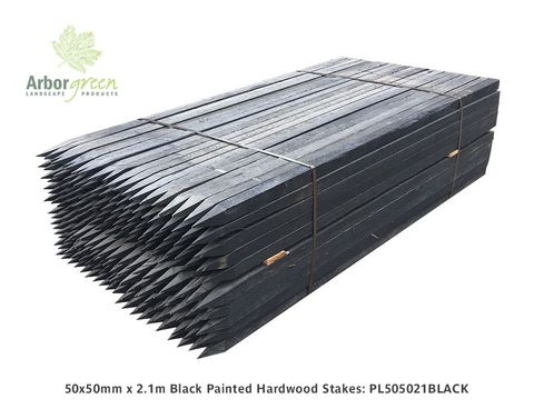 Hardwood Stakes 50x50x2100mm - Painted Black