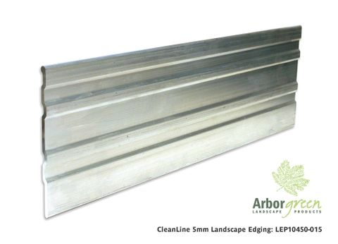 CLEANLINE 5mm L/S Edging Aluminium, 100mm x 2.4m