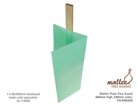 Mallee Flute Tree Guard 600mm High, 200mm sides