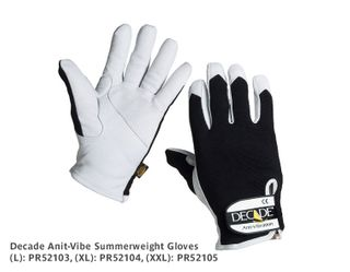 DECADE Summerweight Anti-Vibe Gloves - Large