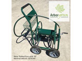 Hose Trolley/Cart, 4 x 10in Flat-free Wheels