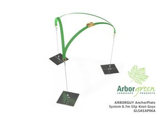 Arborguy AnchorPlate Guying System with 3 x 0.7m Slip Knot Guys
