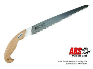 ARS Wood Handle Pruning Saw, 30cm blade