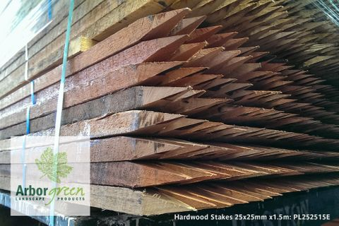 Pointed Hardwood Stakes 25x25x1500 Each