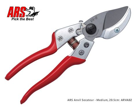 ARS Anvil Secateurs - Medium, 20.5cm